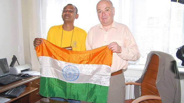 Návštěva z Indie na jičínské radnici.