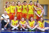 Basketbalové družstvo packých kadetek, vítěz oblastního přeboru.