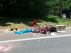Vážná dopravní nehoda v Nové Pace.