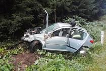 Nehoda automobilu u Štikova.
