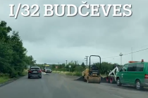 Oprava státovky I/32 v Budčevsi