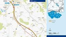 Mapka nového úseku dálnice. Práce začnou už příští rok.