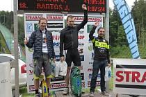 Cyklisté Polman, Vagenknecht a Jindřišek.