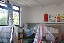 Výměna oken v jičínské knihovně.