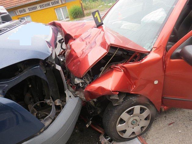 Dopravní nehoda vKonecchlumí.