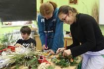Kopidlenští zahradníci před Vánocemi.