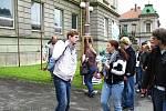 Z návštěvy německých studentů z Greifswaldu.