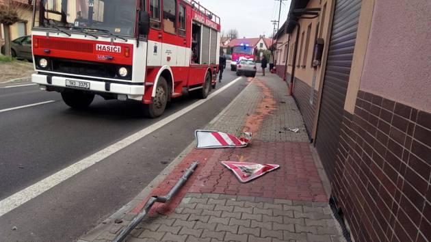 Dopravní nehoda v Kopidlně