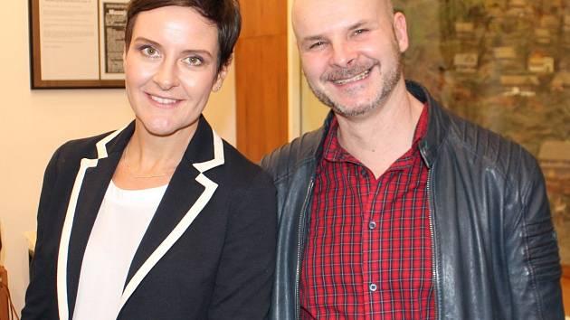 Architektka Eva Le Peutrec a sochař Albert Králiček.