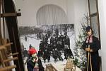 Výstava v muzeu o historii zimních sportů na Jičínsku.