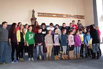 Skupina školáků z Pieszyc.