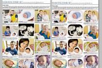 Dnešní stránka miminek. Která úprava se vám více líbí? Klasická vlevo, nebo novější s oblými snímky vpravo?