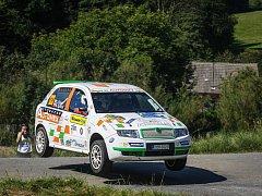 Posádka Picek – Dohnal při úspěšném vystoupení na Barum Rally.