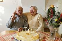 Oslava 60. výročí svatby manželů Raduškových.