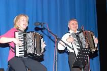 Z jičínského koncertu manželů Renáty a Josefa Pospíšilových.
