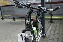 Havarovaný bicykl.