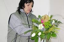 Květinová výzdoba z kopidlenské zahradnické školy zdobila i pražský Źofín.