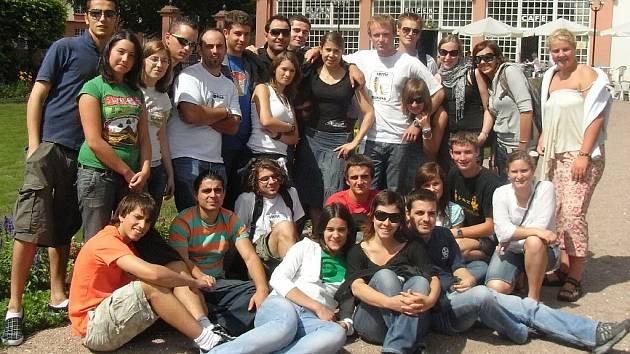 Účastníci Setkání mladých v Erbachu.