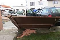 Nehoda podnapilého řidiče v Kopidlně.