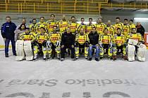 Tým hokejistů BK Nová Paka.