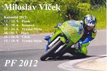 Vítězné přáníčko Miloslava Vlčka a zároveň kalendář akcí pro letošek.