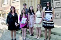 Vítězný tým ze Základní školy v Husitské ulici v Nové Pace.
