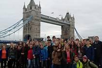 Exkurze novopackých žáků v Londýně.