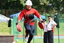 Z krajského kola soutěže dorostu hasičů.