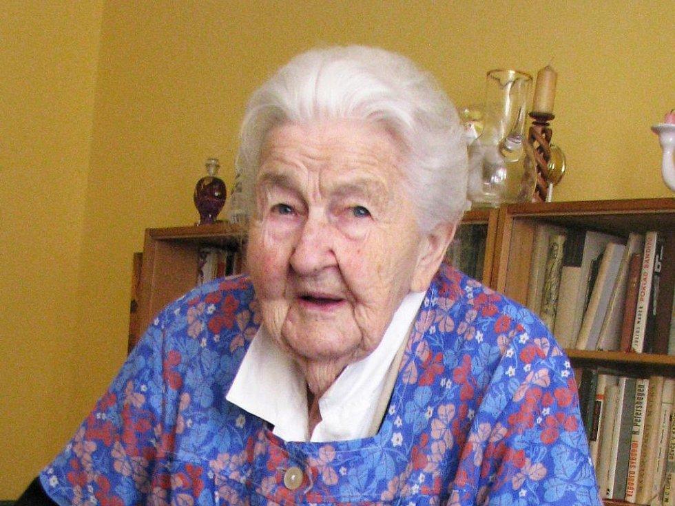 Marie Fišerová z Hořic, 105 let.