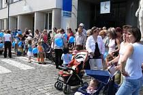 Den s Deníkem v Nové Pace na Masarykově náměstí.