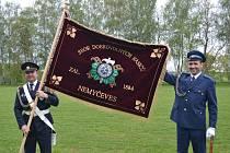 V rámci oslav 135. výročí od založení sboru si hasiči z Nemyčevsi nechali požehnat nový prapor.
