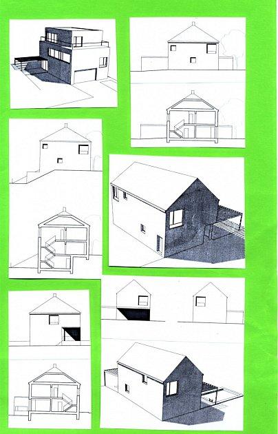 Plánovaný typ zástavby domků vlokalitě po kasárnách.