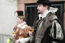 Otevírání hradu Pecka s Kryštofem Harantem a jeho družinou.