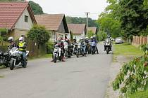 Ze srazu motorkářů v Sekeřicích.