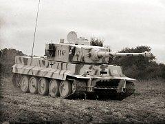 Tank Tiger, který se stal na konci války obávaným, byť problémovým symbolem Wehrmachtu.