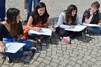 Královédvorští žáci zapojení do programu Comenius.