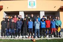 Silvestrovský fotbal v Libuni.