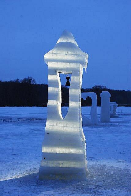 Ledové sochy Jana Kužela.