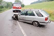 Střet aut u Vidochova.