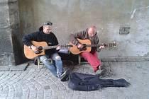 Hudba v ulicích Jičína.