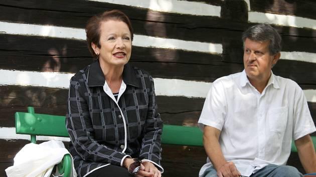 Hana Maciuchová na Šolcově statku v Sobotce.