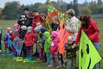 Drakiáda dětí ze Soukromé mateřské školy Úlibice.