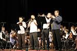 Fanfára pro starostu v podání trumpetistů.
