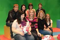 Kopidlenští žáci v televizním vysílání.