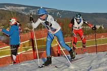 Večerní kritérium v běhu na lyžích ve Vejsplachách.