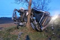 Tragická nehoda na výpadovce z Hradce Králové na Jičín.