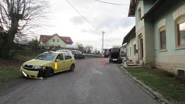 Z místa nehody v Podhradí.