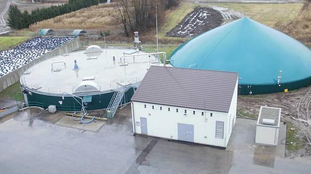 Bioplynová stanice.