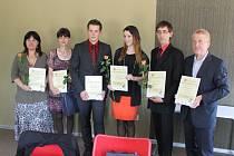 Z ocenění soutěže Nejlepší student v jičínském Microriscu.