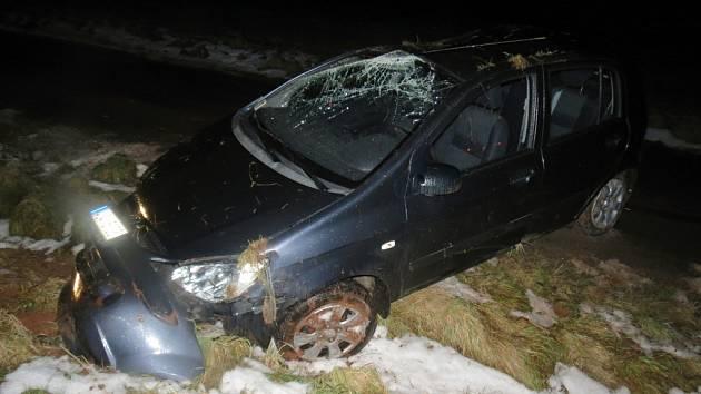 Dopravní nehoda u Vidonic.
